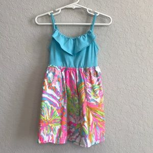 Lilly Pulitzer dress turquoise floral size XS 2-3